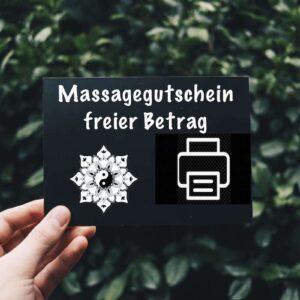 Massagegutschein offener Betrag
