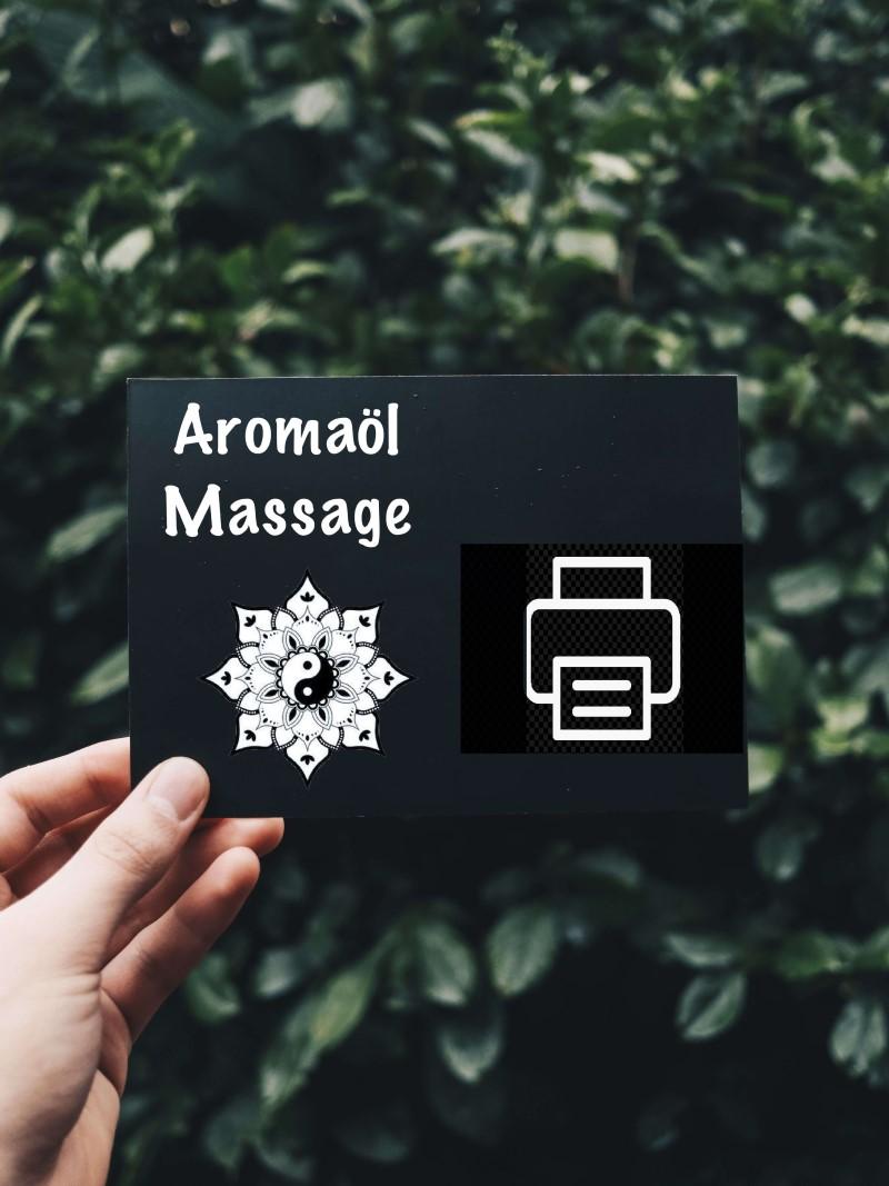 Gutschein Aromaöl print