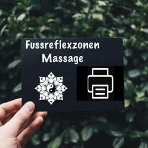 Gutschein Fussreflex print