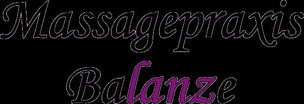 Massagepraxis Balanze Schriftzug